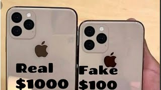 Real iphone 11 pro max vs fake iPhone 11 pro max in hindi and giveaway of two clone device, unboxing