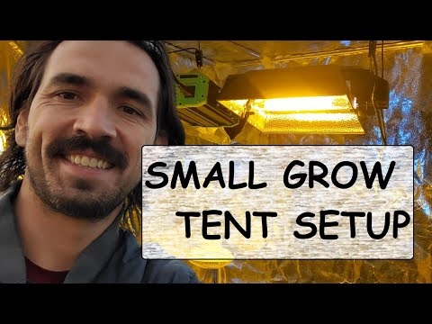 Small Grow Tents  Grow Light &amp  Carbon Filter Setup  No Co2