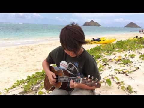No Woman No Cry - Bob Marley-  Lanikai Beach, Oahu, Hawaii - Solo fingerstyle ukulele