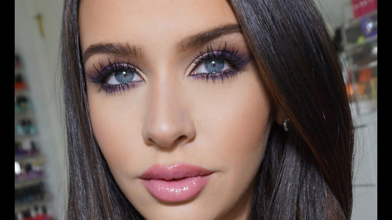 Purple Smokey Cat Eye Makeup