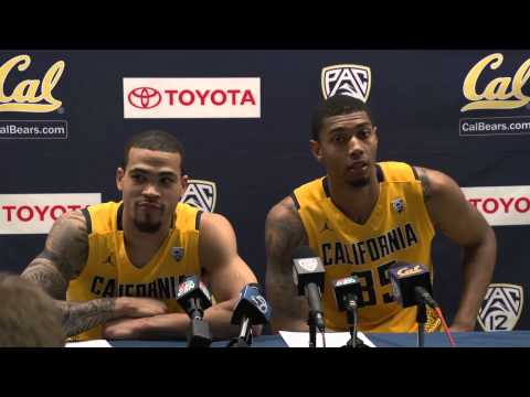 Cal Men's Basketball: Justin Cobbs & Richard Solomon (Arizona Post Game 02/01/14)