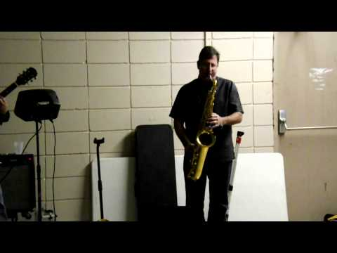 Keith Romero on the sax at family anniversary party