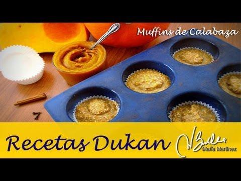 Magdalenas Dukan: muffins de calabaza y salvados (Crucero) / Dukan Diet Oatbran Pumpkin Muffins