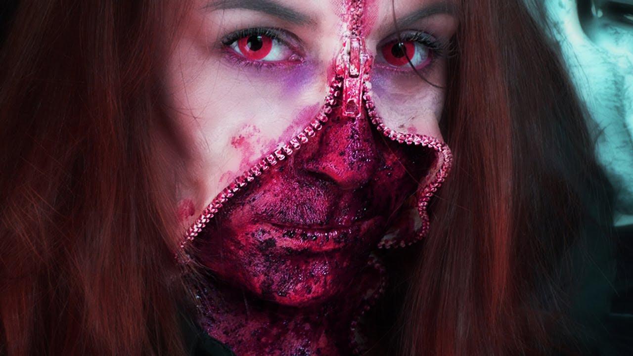Maquillage Effets Sp Ciaux Gore Unzipped Zipper Face Youtube