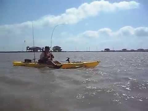 Kayak fishing surfside tx youtube for Surfside fishing report