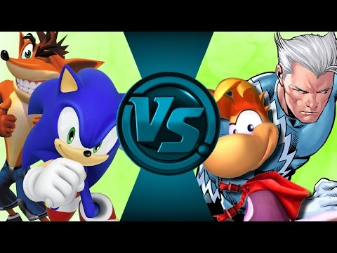 SONIC & CRASH vs RAYMAN & QUICK SILVER! Salt Assault!