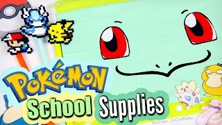 DIY SCHOOL SUPPLIES : Magnetic Notebook & Pokemon - Back To School How To | SoCraftastic