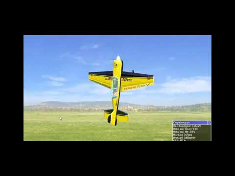 YAK 54 EXTREME FLIGHT in Black+Yellow