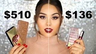 FULL FACE DRUGSTORE vs. HIGHEND MAKEUP TUTORIAL - TESTING DUPES | Roxette Arisa