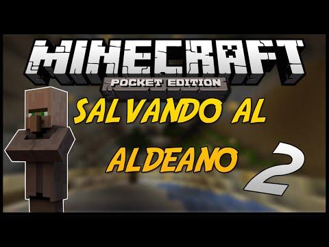 Minecraft PE SALVANDO AL ALDEANO 2