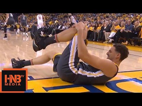 Klay Thompson Injury / GS Warriors vs Rockets Game 4