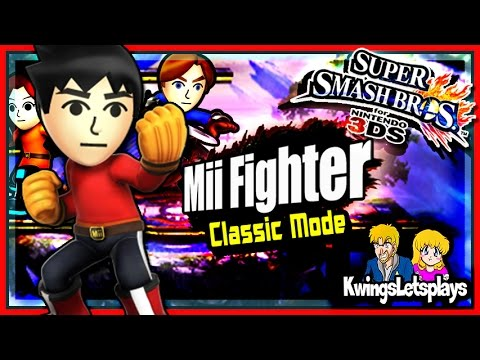 Super Smash Bros 3DS Kwing Mii Fighter Classic Mode