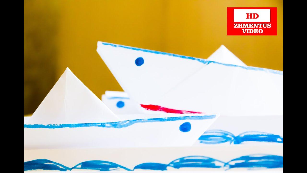 Как сделать из бумаги кораблик своими руками 74