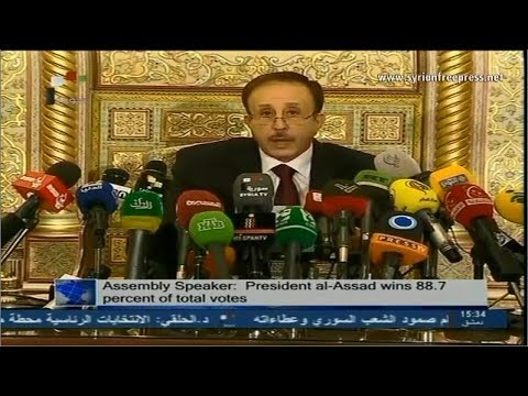 Syria News 5/6/2014, Al-Assad wins landslide victory in presidential elections