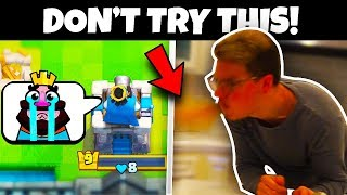 1 LOSS = CINNAMON CHALLENGE!! (EXTREME Clash Royale)