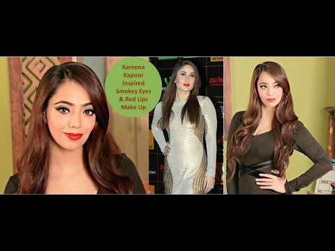 Kareena Kapoor Inspired Smokey Eye and Red Lips Make Up (Hindi)