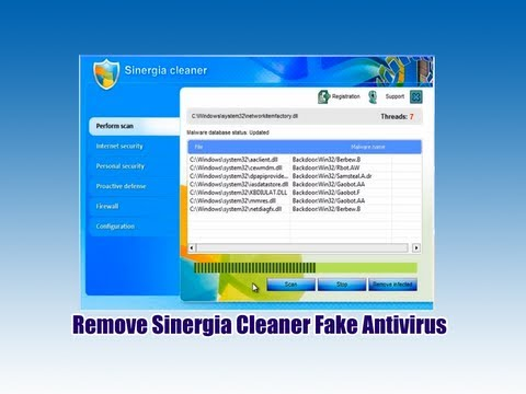 Remove Sinergia Cleaner Fake Antivirus