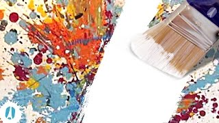 HOW TO Reuse / Recycle An Old Canvas For Painting, Using Gesso #ArtsAndCrafts #Painting