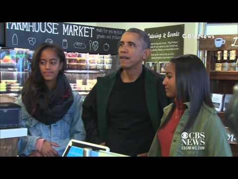President Obama Goes Shopping With Malia & Sasha on Small Business Saturday!