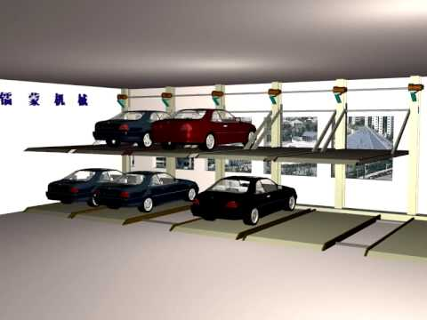 Automatic Parking System Car Stacker Lift Sliding Two