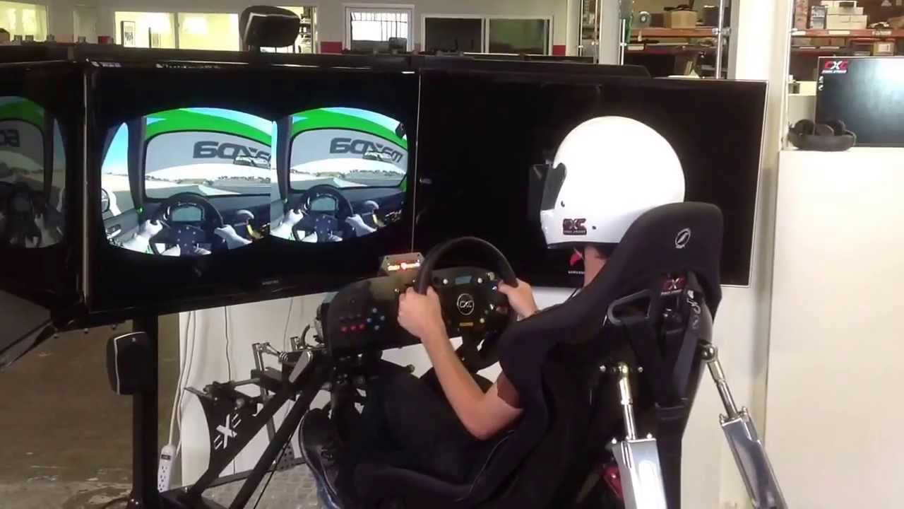 Oculus Rift Testing On A Motion Pro Ii Racing Simulator