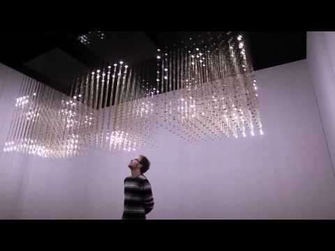 rAndom International - Swarm Light, Responsive Light Installation 2010