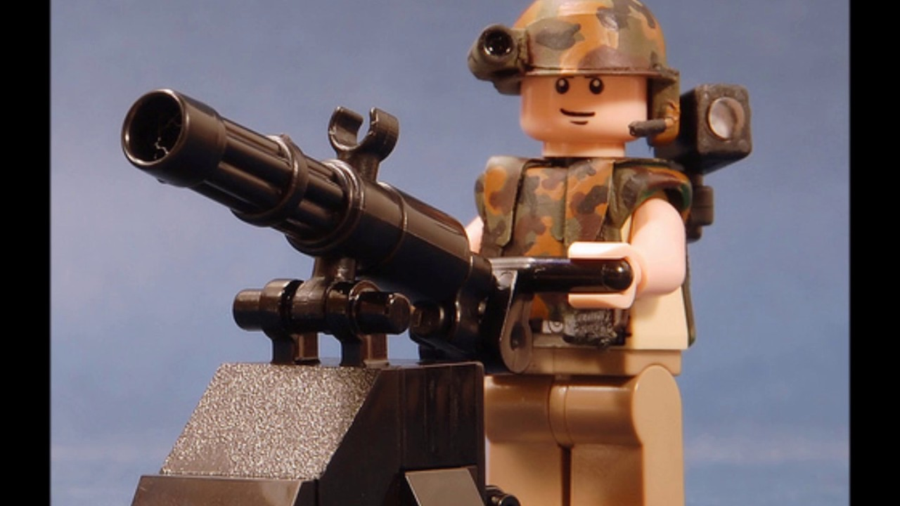 The new lego brickarms minigun 2011 youtube
