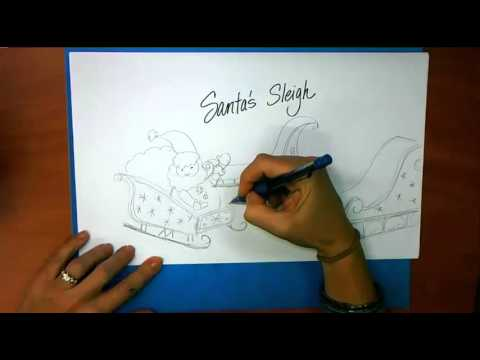 How to draw santa claus sleigh  Hellokidscom