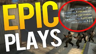 CS:GO - 1 NADE 5 KILLS ?! EPIC PLAYS #4