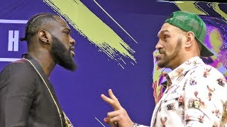 IT'S ON!!  Deontay Wilder vs. Tyson Fury FACE TO FACE in Los Angeles | Heavyweight Boxing