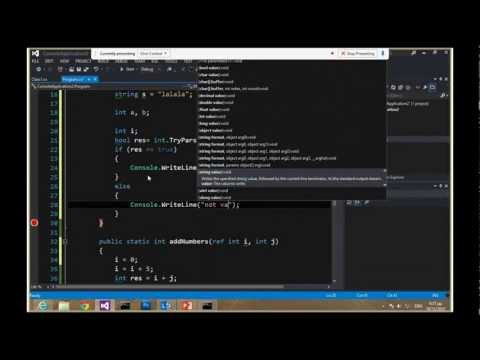 Introduction to C#, part 1 - Imagine Cup 2013