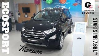 ford ecosport  facelift 2017 black titanium plus variant  | detailed walkaround review !!!