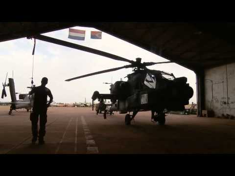 Dutch Apache Attack Helicopters arriving in Mali