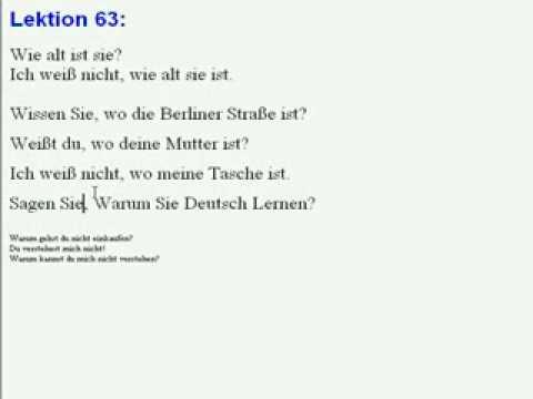 Lektion 63, زبا&#1606