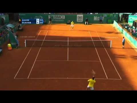 L'algérien Lamine Ouahab crée la sensation dans le 1er tour du Grand Prix Hassan II de tennis, issu des qualifications il a pu battre en 2 set sec Robin Haase .