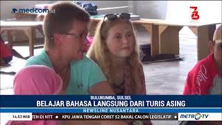 Anak-anak Bulukumba Belajar Bahasa Inggris Langsung dari Turis Asing