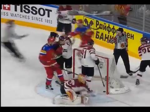 Чемпионат мира по хоккею 2017. Россия-Латвия счет 2:0 ГОЛ