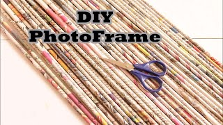 DIY Photo Frame Using Newspaper and Cardboard - Best out of Waste - Art with HHS