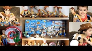TT's ENORMOUS Toy Story Sheriff Cowboy Woody Collection Figures Dolls Plush Talking Bullseye