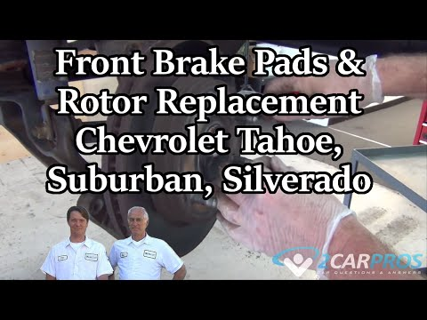Front Brake Pads & Rotor Replacement Chevrolet Tahoe. Suburban. Silverado 2000-2006