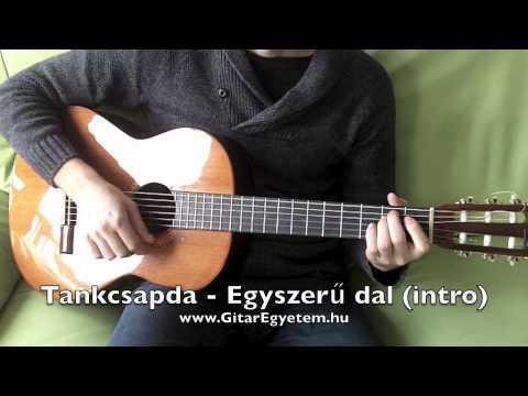 Tankcsapda - Egyszerű dal gitáron (akkordok - intro) www.GitarEgyetem.hu
