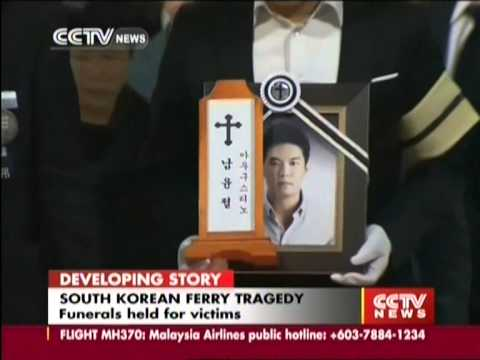 Funerals held for victims of South Korean ferry tragedy