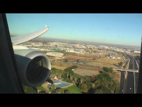 Gorgeous Business Class HD 787 Dreamliner Landing in Johannesburg on Qatar Airways!!!