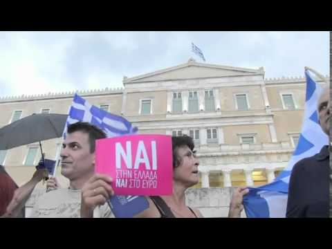 Pro Europe demonstration in central Athens