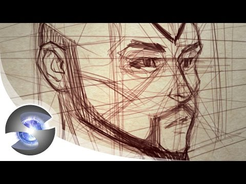 Drawing a Head in Perspective