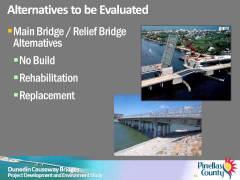 Dunedin Causeway Bridges Project Development and Environment Study