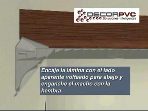 Falso techo de pvc o cielo raso de pvc sistema decorpvc for Modelos de yeso para techos