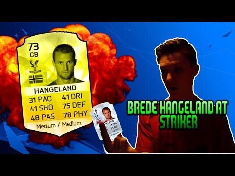 BREDE HANGELAND AT STRIKER? - SLOWEST STRIKER IN THE GAME UP FRONT! (FIFA 16 INSANE CHALLENGE!)
