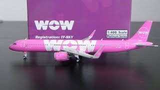 Phoenix 1:400 WOW Air Airbus A321 NEO Unboxing and Review