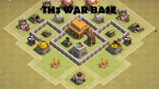 Clash of clans th3 farming base mortar centralised